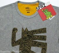 Keith Haring X Uniqlo 'dog Man' Sprz Ny Artist T-shirt Small Gray