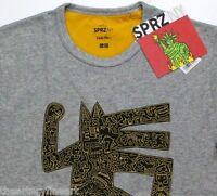 Keith Haring X Uniqlo 'dog Man' Sprz Ny Artist T-shirt Small Gray