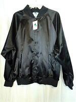 Augusta Sportswear Size L Black Satin Hollywood Casino Poker Room Jacket