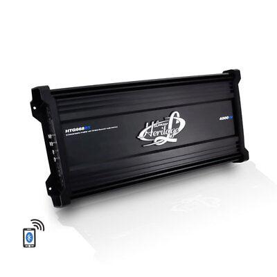 Lanzar HTG668BT Heritage Series 4000w Bluetooth Audio 6 Channel Mosfet Amplifier