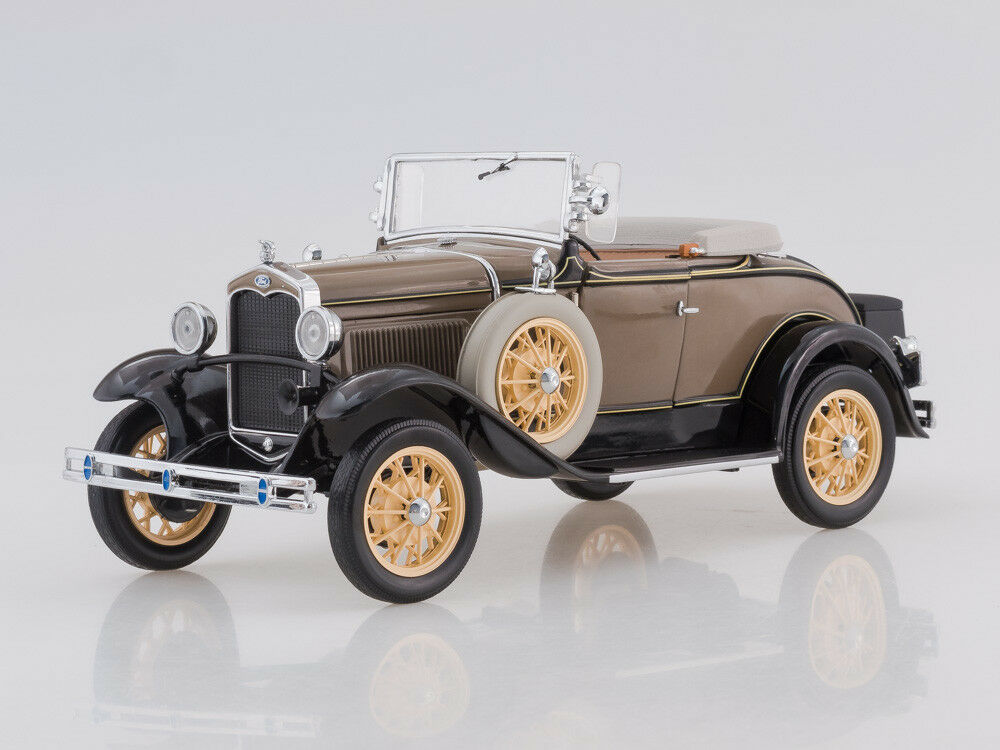 Scale model 1 18 1931 Ford Model A Roadster (Stone Brown)