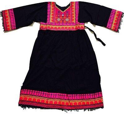 BLACK Kuchi Afghan Banjara Tribal Boho Hippie  Ethnic Dress Eid Party Ladies NEW