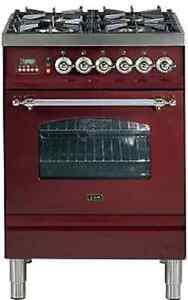 ILVE pn-60-vg cucina a gas 60cm FORNELLO nostalgia CON FORNO!!! | eBay