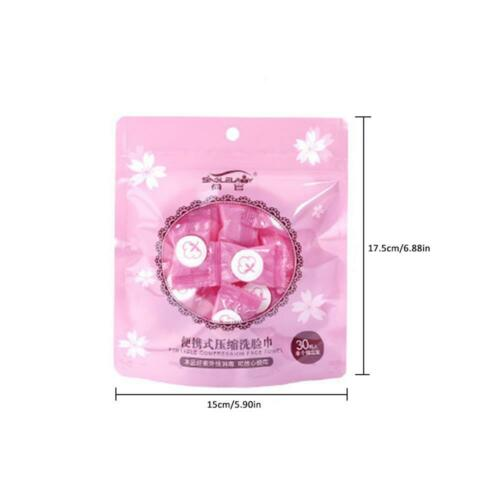 Disposable Pure Cotton Compressed Washcloth Moistened Face Towel Travel Napkin