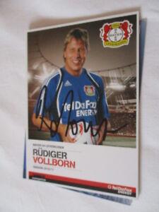 77973 Rüdiger Vollborn Bayer Leverkusen original signierte Autogrammkarte