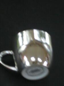 Starbucks-2007-Holiday-Coffee-Mug-Cup-Espresso-Demitasse-Silver-Mirror-Finish