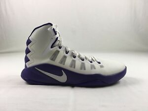 official photos 6bdbf f7538 Image is loading New-Nike-zoom-hyperdunk-White-purple-Hi-Top-