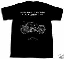 HARLEY DAVIDSON MOTORCYCLE PATENT SHIRT L TShirt NEW Large 1924 HD Willie