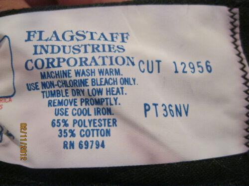 Mens pants flat Black uniform Chino 34 36 38 40 unhemmed NEW FLAGSTAFF USA