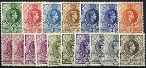 Swaziland - SG 28-38 - 1938-54 - Definitive Set plus extras - Mounted Mint