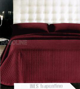 Copriletto trapuntato matrimoniale trapuntino raso di cotone rosso bordeaux gff ebay - Copriletto matrimoniale rosso ...