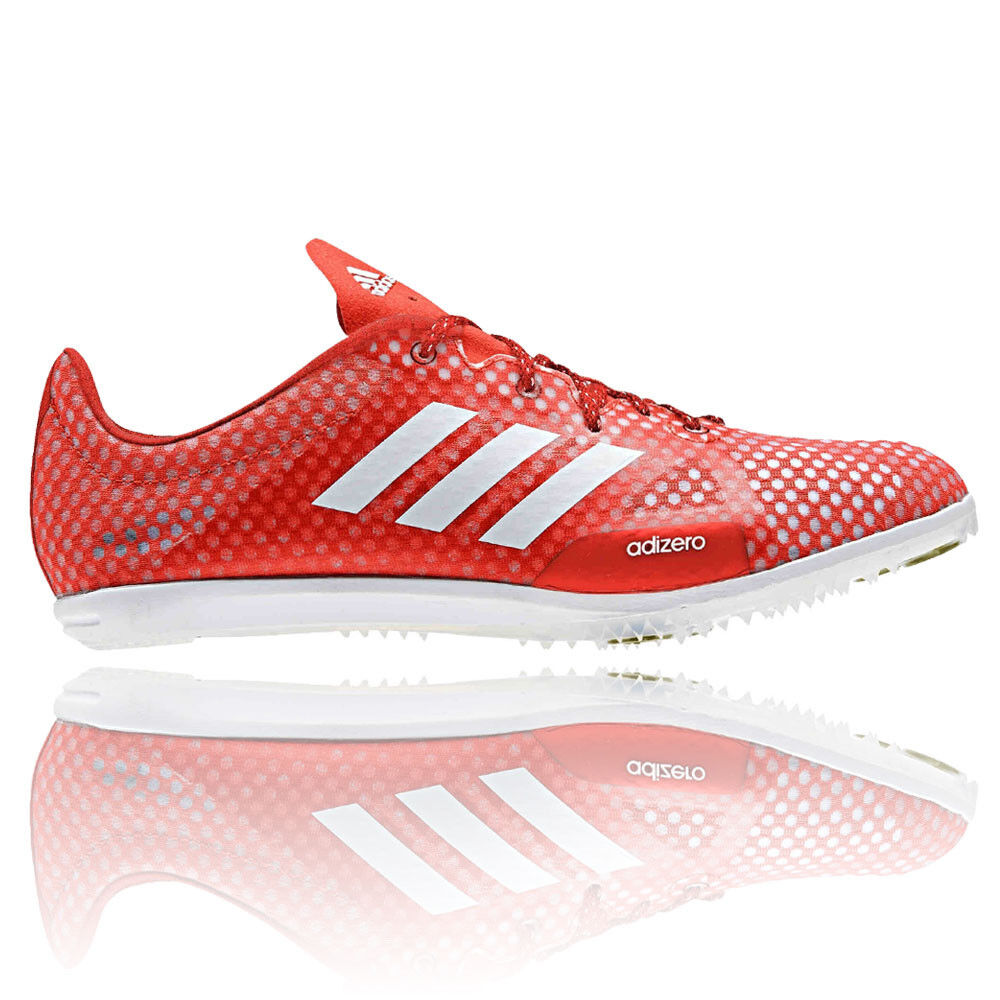 Adidas Adizero Ambition 4 Womens Red Running Track Shoes Spikes Trainers
