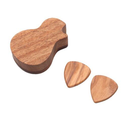 2er Set Palisander Gitarren Picks Plektren Plektrum Plektron mit Halter für