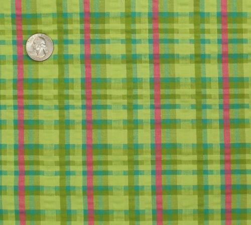 Summer Cotton Stretch Seersucker Plaid Fabric Fabric