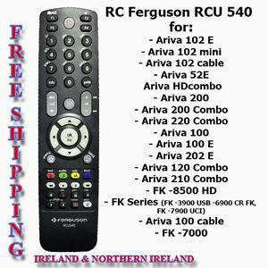 W Mega Ferguson Ariva HD Remote Control RCU 540 - 100/120/150/152/200/210 MC12