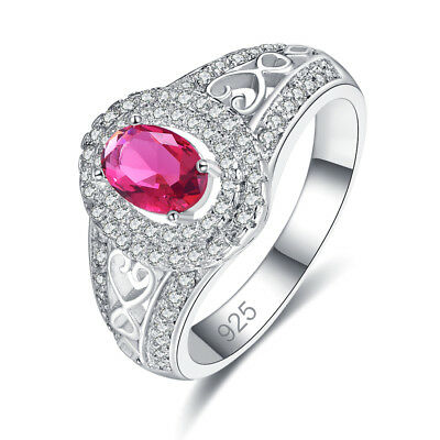 Engagement Emerald /& Rainbow /& White Topaz Gemstone Silver Ring Size 6 7 8 9