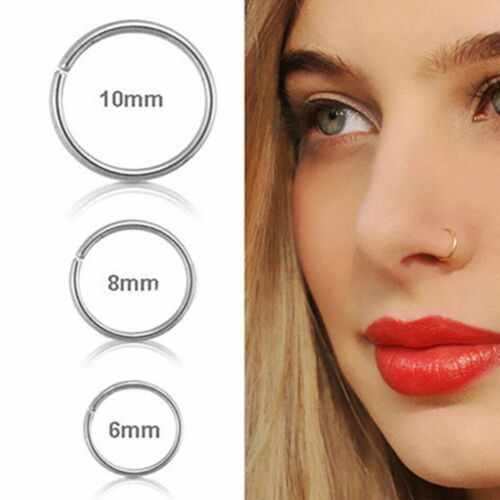 1Pc Small Thin Cartilage Lip Stus Earring Body Piercing Hoop Ring