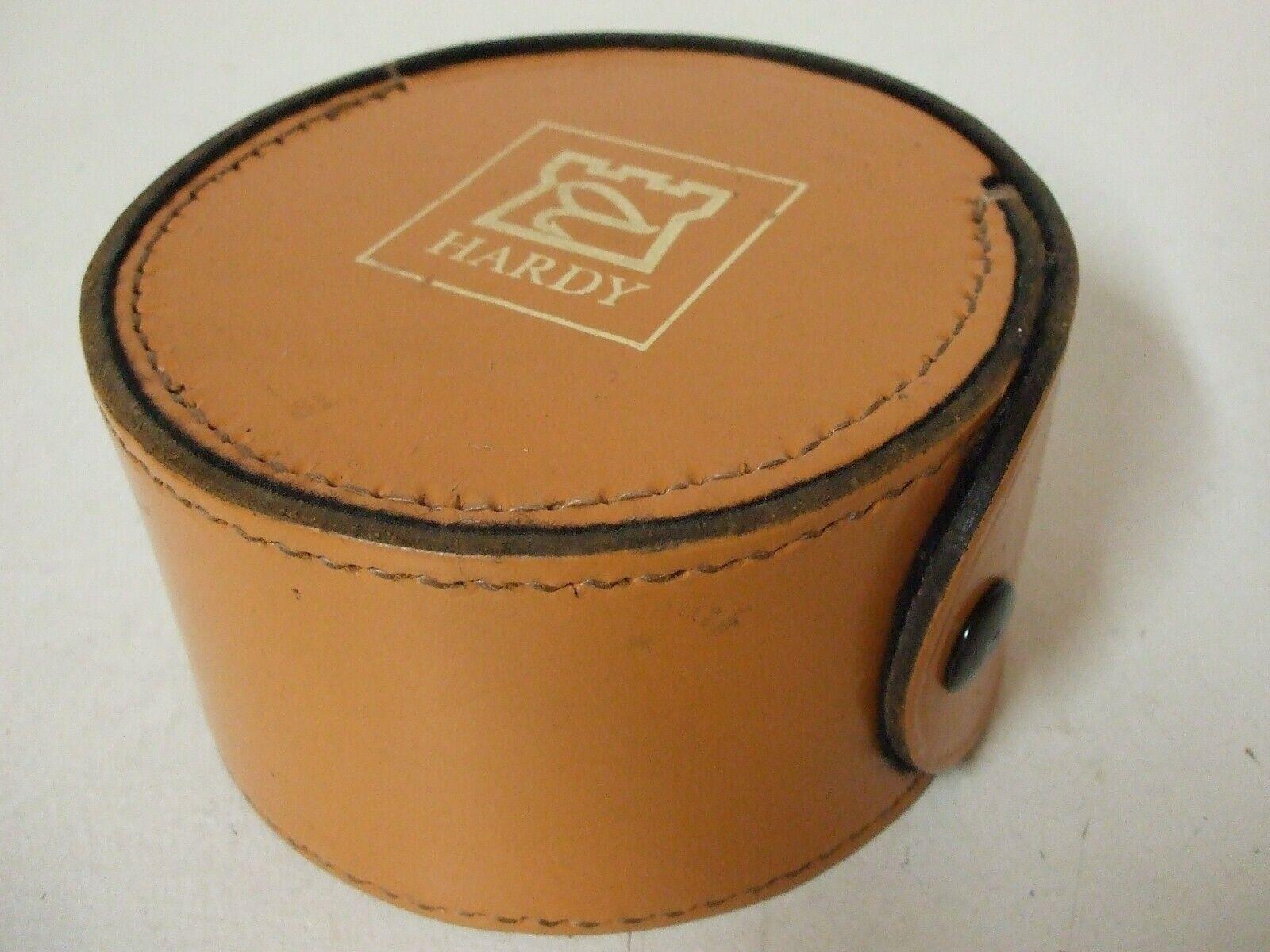 Hardy rossoonda Blocco in Pelle Fly Reel Case  N.O. S .