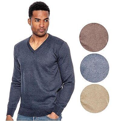 True Rock Men's Lightweight Long Sleeve V-Neck Sweater