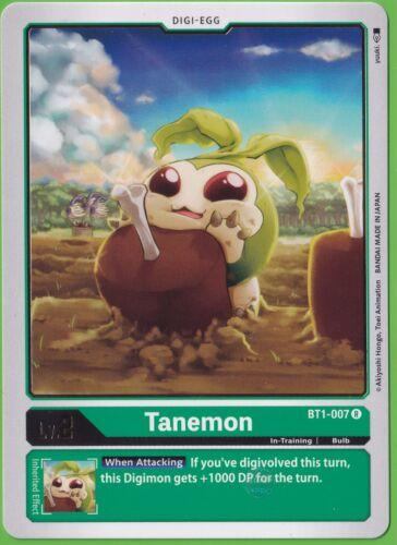 Tanemon BT1-007 R Rare English Pre-Release Digimon TCG 2020