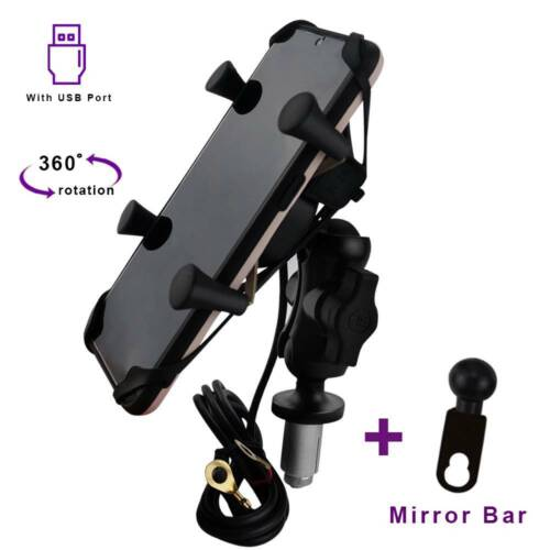 Adjustable Phone Holder with USB Charger Cell Fit For Honda VFR 800F 1200F DCT
