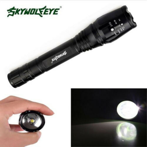 XML LED Flashlight 12000LM Focus T6 5Modes Flashlight Torch Lamp Nightlight Top