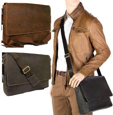 Visconti Texas Hunter in pelle Large COLLEGE Uni Borsa Messenger Lavoro molto Robust | eBay