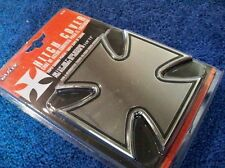 """Iron Cross Metal Hitch Cover Plug 1 1/4"""" 2"""" Hot Rat Rod NEW By BULLY CR-414"""