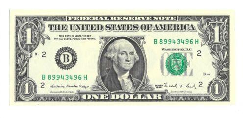CRISP /& UNCIRCULATED BANKNOTE 1988 $1 NEW YORK FRN