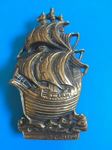 Image Is Loading Door Knocker Nautical Vintage 16th Cent Galleon Ship