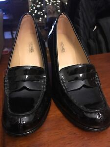 17392dc3e1df Michael Kors Bayville Women s Size 5.5 M Black Patent Leather Loafer ...