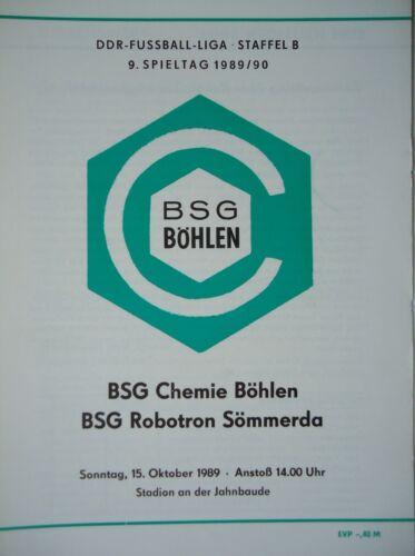 Robotron Sömmerda Programm 1989//90 BSG Chemie Böhlen