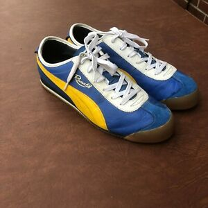 Details zu PUMA ROMA 68 shoes BLUE YELLOW Mens size US12 In excellent condition