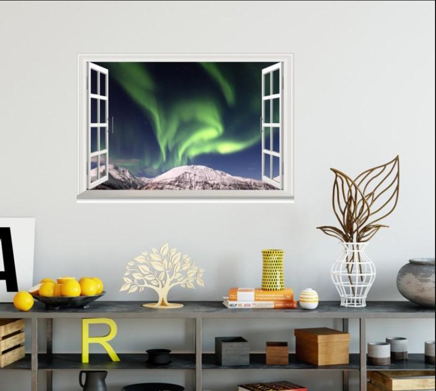 3D Light Sky 4029 Open Windows WallPaper Murals Wall Print Decal Deco AJ Summer