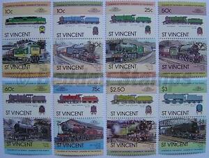 Discret 1983 St Vincent Ensemble # 1 Train Locomotive Chemin De Fer De Timbres (les Dirigeants Du Monde) Un Style Actuel