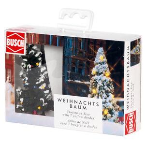 + NEU /& OVP BUSCH 5409 H0 Weihnachtsbaum mit LED-Beleuchtung