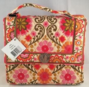 196554b32103 Image is loading NWT-Vera-Bradley-Julia-Folkloric-Handbag-Purse-Pink-