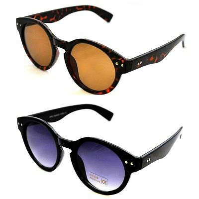 Retro 90s Style Round Lens Steampunk Brow Bar Sunglasses Goggles NEW BNWT 1990s