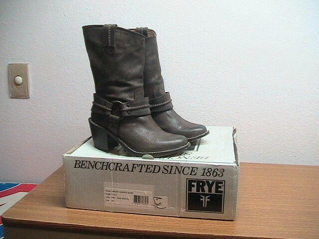 prezzo basso donna 6B FRYE Carmen Harness Dark Dark Dark Marrone Leather stivali, WORN ONCE, MSRP  298  vendite dirette della fabbrica
