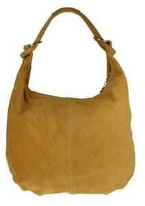 Italian Genuine Suede Real Leather Shoulder Bag Hobo Slouch Designer ... 9a377b0e961f1