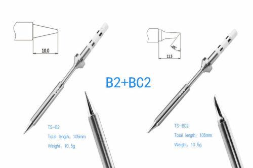 MINI TS100 Lötkolben Set Digital Elektrisch USB Soldering Iron with B2/&BC2 TIP