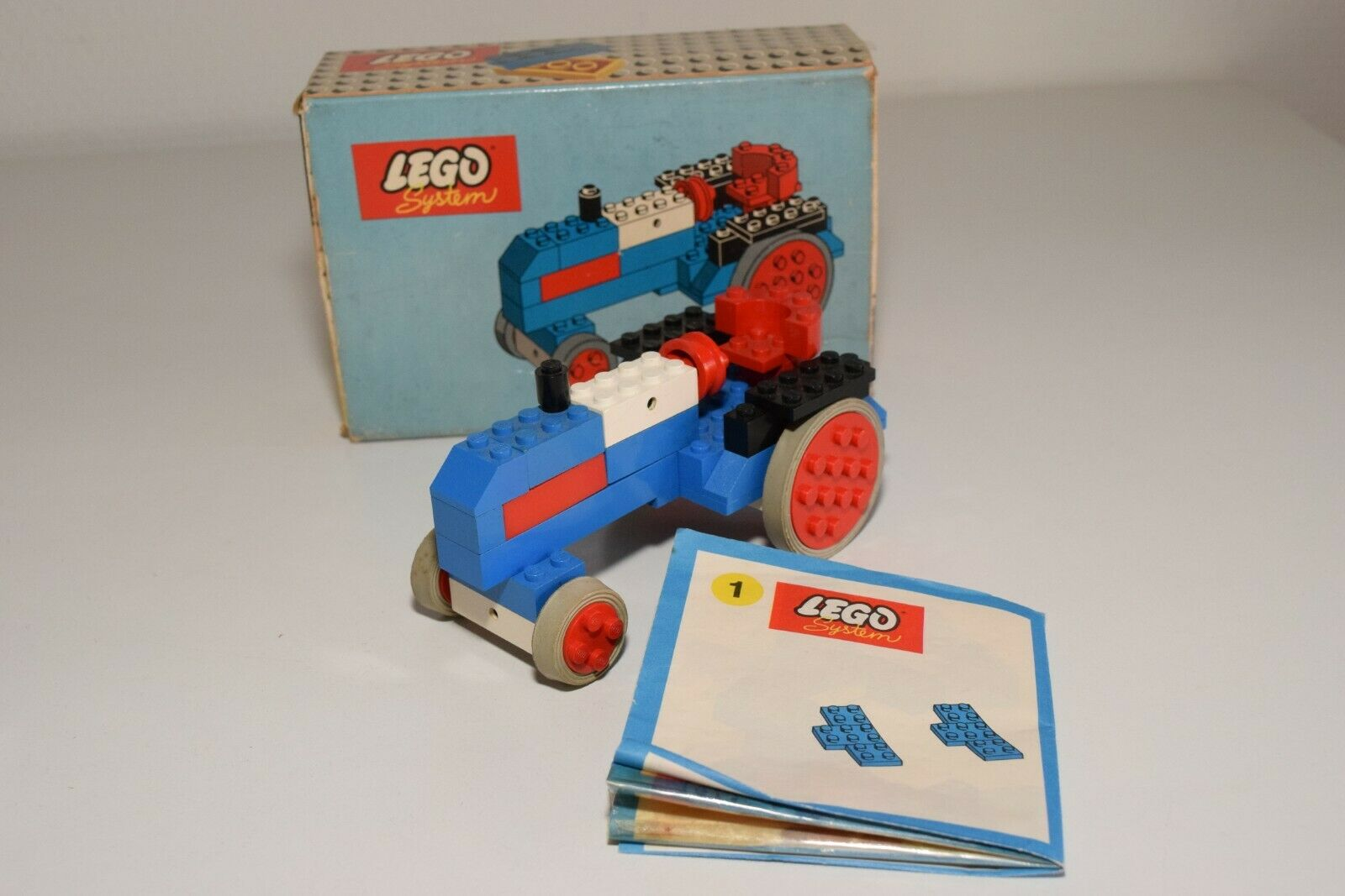 Y VINTAGE LEGO SYSTEM 316 TRACTOR TRACTOR TRACTOR blueE EXCELLENT BOXED 0993b6