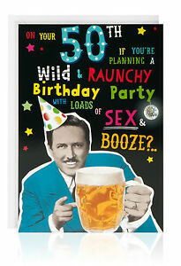 Image Is Loading 50th HAPPY BIRTHDAY Male Greetings Card Funny Humour
