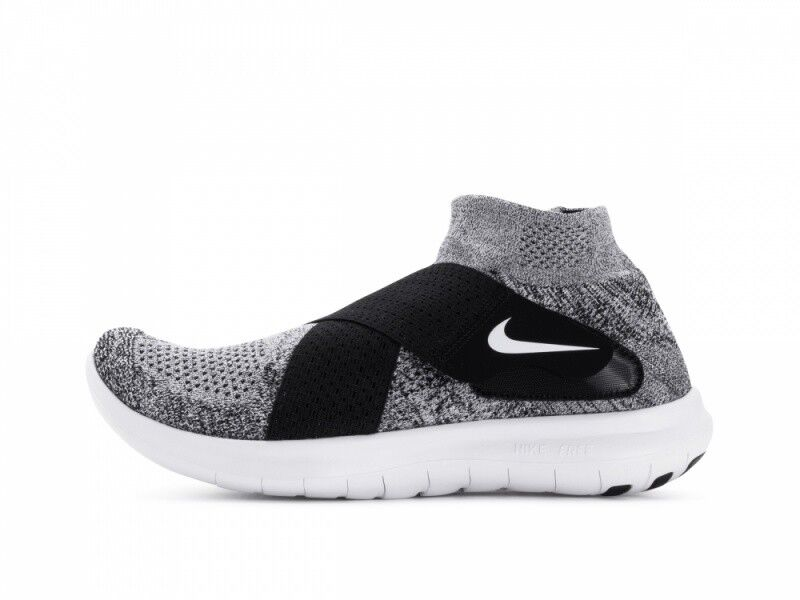 Nike Hombres 2018 Free Run Motion Flyknit 2018 Hombres - Negro / Platinum / Wolf Gris 54beaa