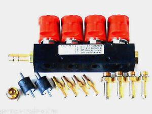 LPG Autogas Valtek Rail Einspritzleiste Typ 30 Rot 4-Zyl. + Zubehör