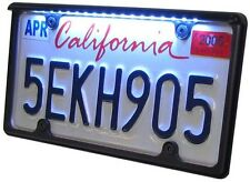 """Black LED License Plate Frame for 12"""" x 6"""" Plate (Auto - Car, Truck, etc.)"""