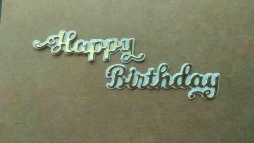 2 piece Happy Birthday /& Shadow sentiment die set metal cutting die cutter UK