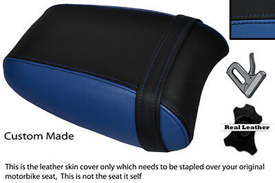BLACK & ROYAL BLUE CUSTOM FITS TRIUMPH THUNDERBIRD 1700 1600 REAR SEAT COVER