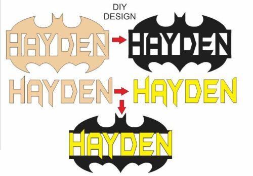 Batman Wooden Wall Hanging Name Sign