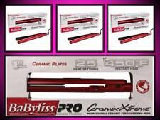"NEW! BABYLISS PRO 1"" CERAMIX XTREME 450° HAIR STRAIGHTENER FLAT IRON RED CERAMIC"